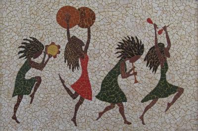 Eggshell mosaic by Linda Biggers