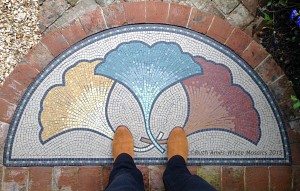 Ruths mosaic doorstep art