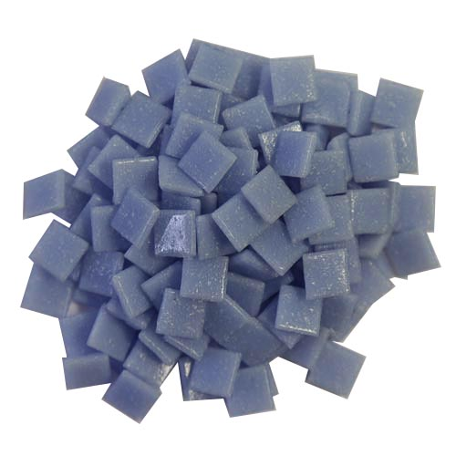 1cm Light Blue Vitreous Glass Tiles