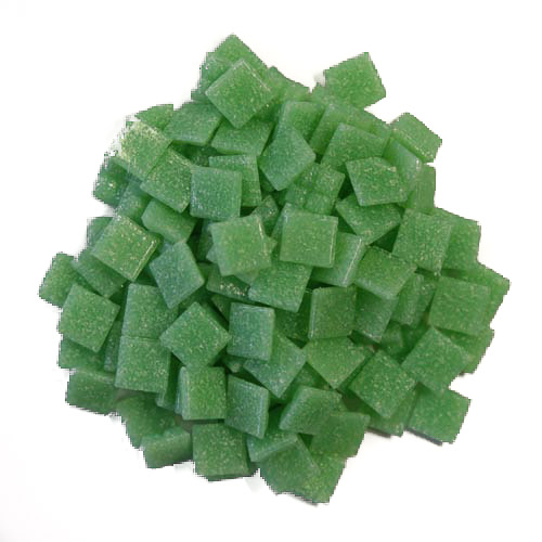 1cm Light Green Vitreous Glass Tiles