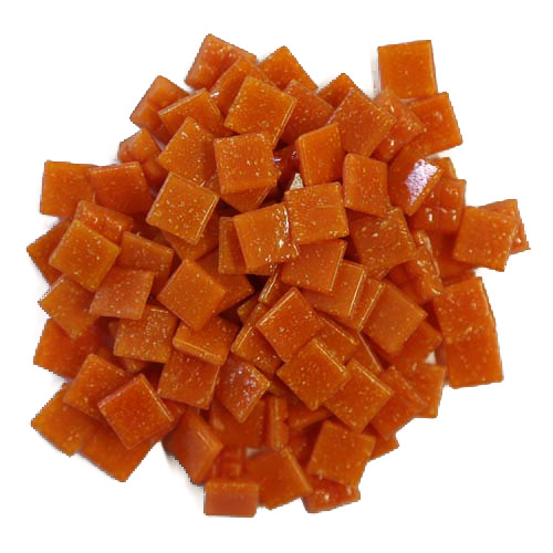 1cm Orange Vitreous Glass Tiles