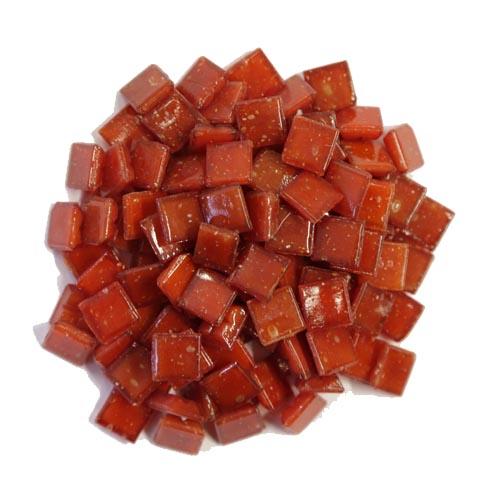 1cm Red Vitreous Glass Tiles