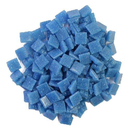 1cm Turquoise Vitreous Glass Tiles
