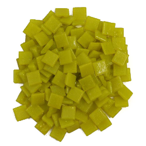 1cm Yellow Vitreous Glass Tiles