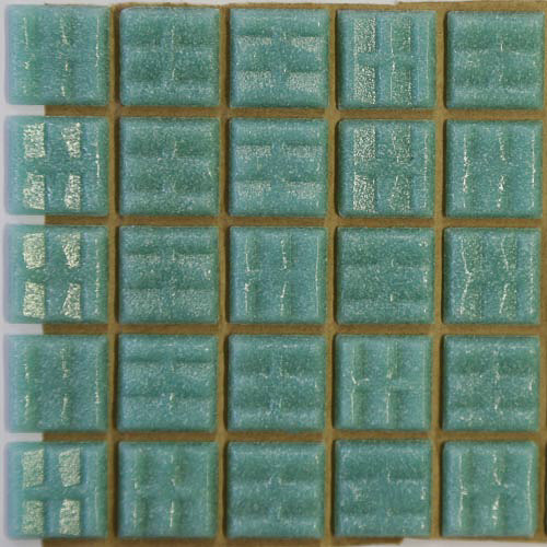 A29 - Sea green 2cm x 2cm vitreous glass tiles