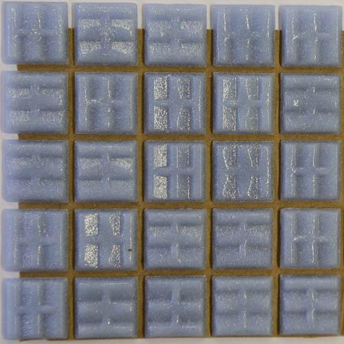 A64 - Pale blue 2cm x 2cm vitreous glass tiles