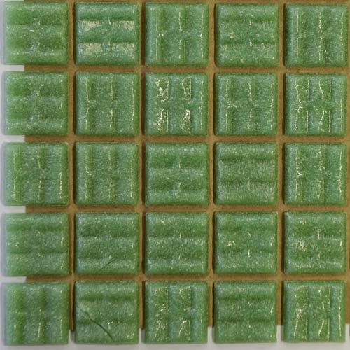 A73 - Light green 2cm x 2cm vitreous glass tiles