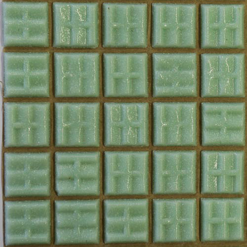 A75 - Mint green 2cm x 2cm vitreous glass tiles