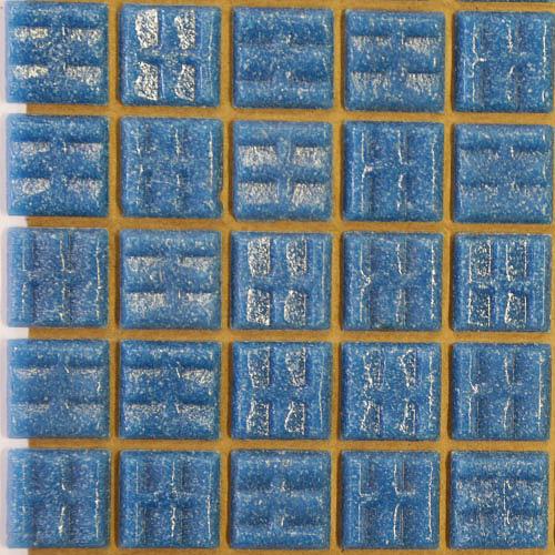 B01 - Dark Turquoise 2cm vitreous glass tiles
