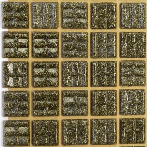 B44 - Dark brown 2cm x 2cm vitreous glass tiles