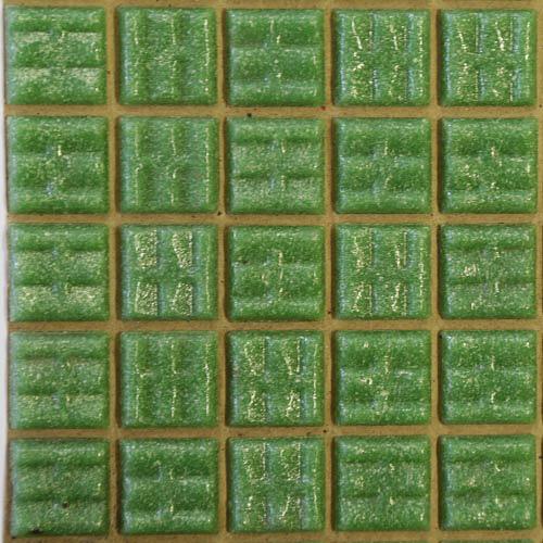 B72 - Mid green 2cm x 2cm vitreous glass tiles