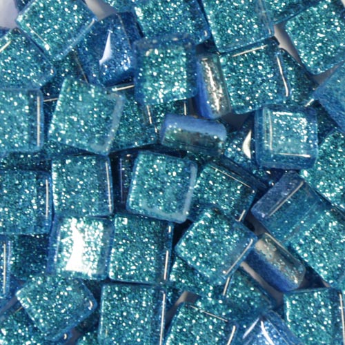 Blue Glitter Tiles