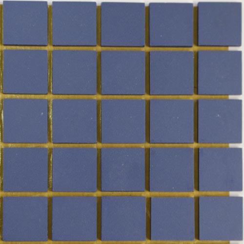 Blue moon unglazed ceramic mosaic tiles