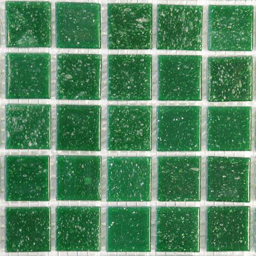 C78 - Dark green 2cm x 2cm vitreous glass tiles