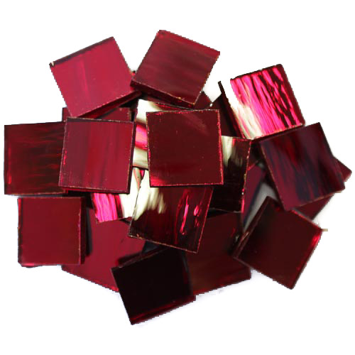 Cherry Mirror Tiles 2cm x 2cm x 3mm hand cut