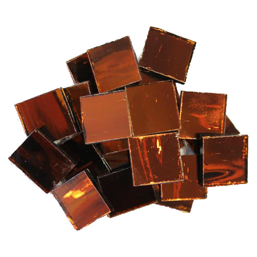 Cinnamon Mirror Tiles 2cm x 2cm x 3mm hand cut