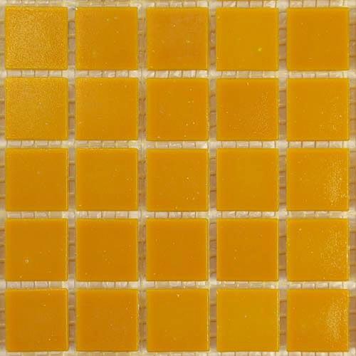 D92 - Orange 2cm x 2cm vitreous glass tiles