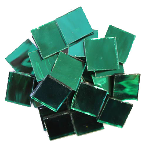 Emerald Mirror Tiles 2cm x 2cm x 3mm hand cut