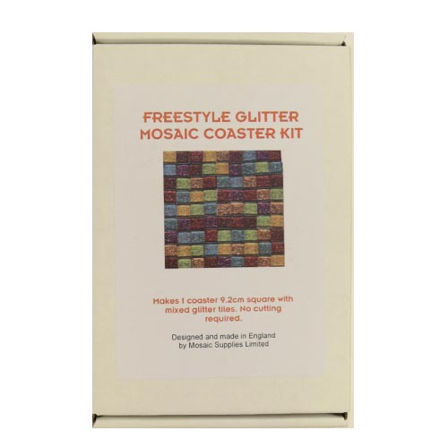 Freestyle glitter mosaic coaster kit