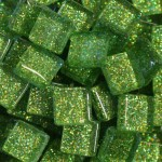 Green Glitter Tiles