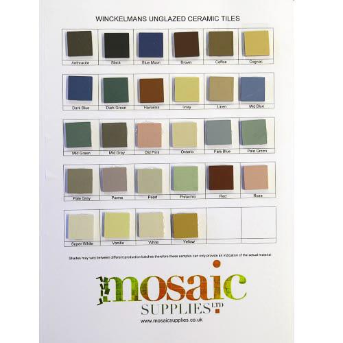 Sample Card - Winckelman unglazed ceramic tiles