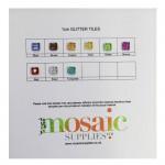 Glass Glitter Tile Sample Card
