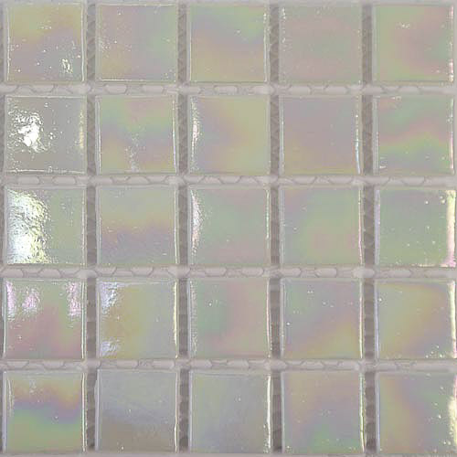 White - Lustre iridescent Glass Tiles