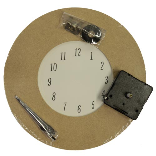 MDF clock with quartz movement & hands