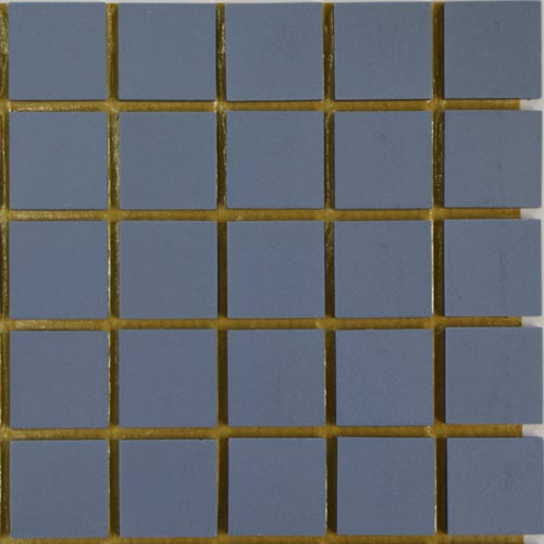 Mid Blue Winckelman unglazed ceramic tiles