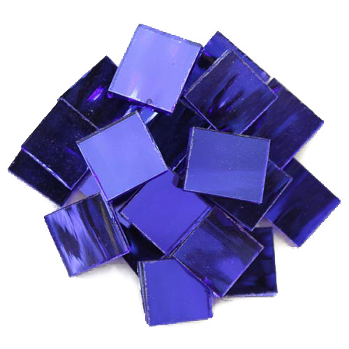 Midnight Blue Mirror Tiles 2cm x 2cm x 3mm hand cut