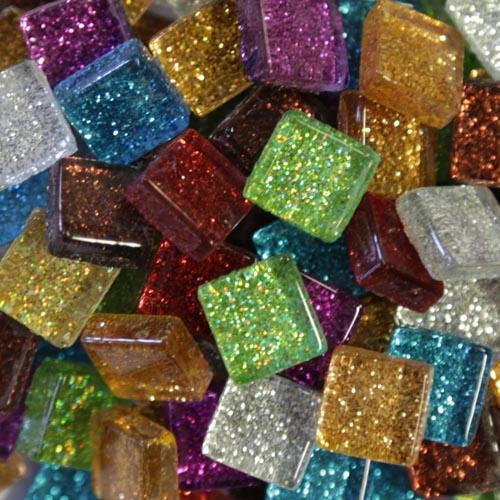 Mixed Glitter Tiles