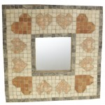 Natural stone heart design mosaic mirror kit - Martin Cheek