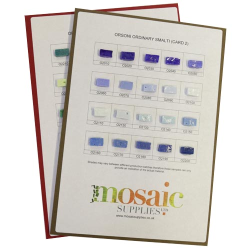Ordinary Smalti Sample Cards