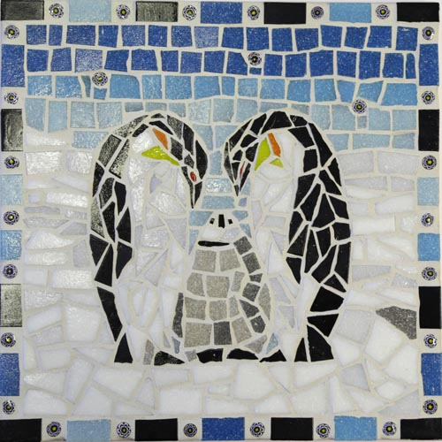 Penguin mosaic kit designed by Gisela Gibbon
