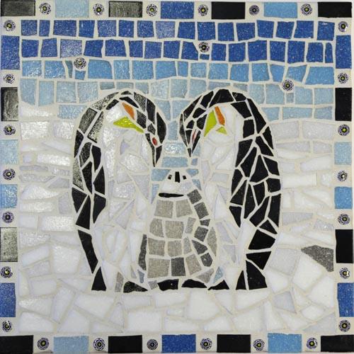 Penguin mosaic kit designed by Gisela Gibbon