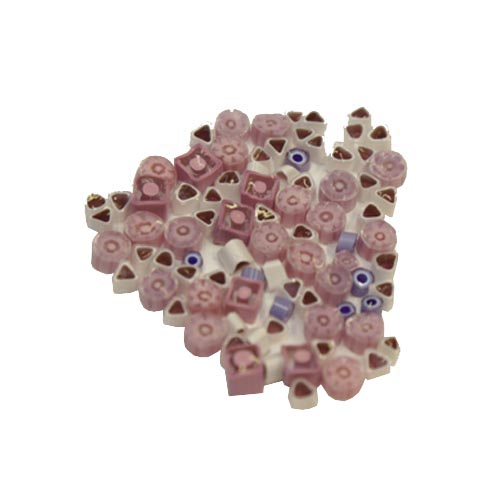 Pink millefiori mix