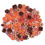 Red and Orange Millefiori mixed patterns and mixed sizes