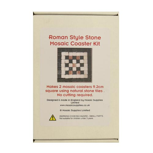 Roman Style Natural Stone Mosaic Coaster Kit