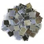 Silver Mirror Tiles 1cm x 1cm X 3mm hand cut