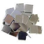 Silver Mirror Tiles 2cm x 2cm x 3mm machine cut