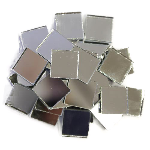 Silver Mirror Tiles 2cm x 2cm x 3mm machine cut