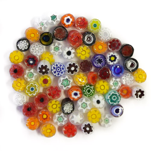 Transparent millefiori - mix of colours Medium