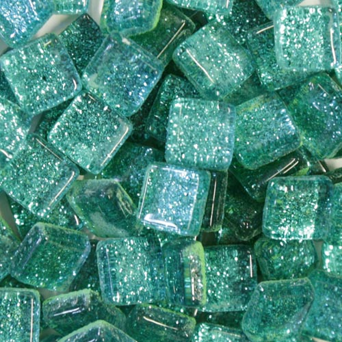 Turquoise glitter tiles
