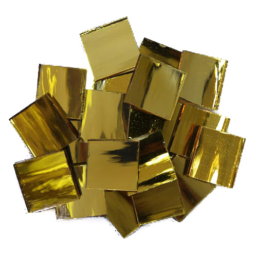 Gold Mirror Tiles 2cm x 2cm x 3mm hand cut