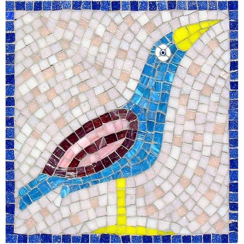 Blue Bird mosaic kit