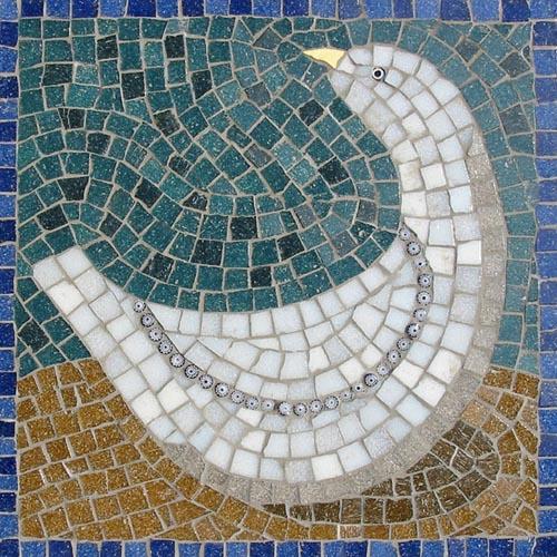 Vase Bird mosaic kit