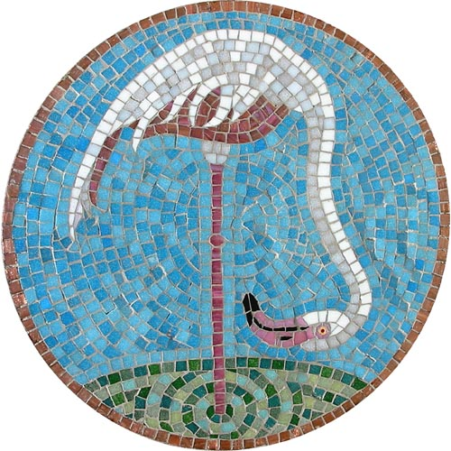 Cheeky Flamingo Head Down Mosaic Kit - Martin Cheek