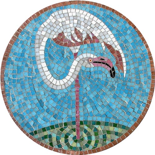 Cheeky Flamingo Head Up Mosaic Kit - Martin Cheek