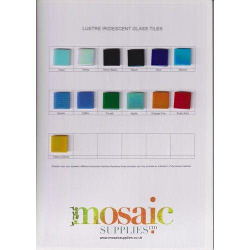 lustre iridescent tile sample card