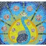 Peacock Display mosaic kit
